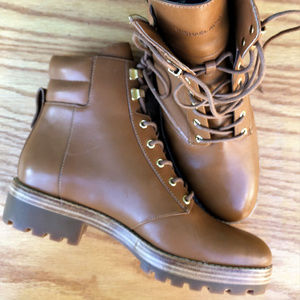 BRAND NEW Michael Kors Rosario Leather Combat Boot